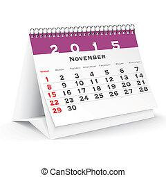 November 2015 desk calendar