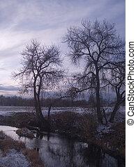 November along the Big Thompson River in rural Colorado