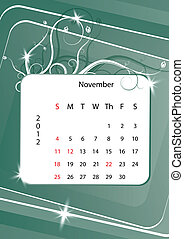November calendar 2012