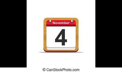 November calendar.
