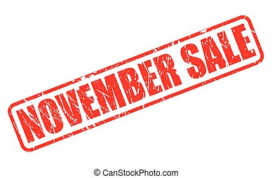 NOVEMBER SALE red stamp text