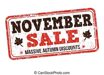 November sale stamp - November sale grunge rubber stamp on...