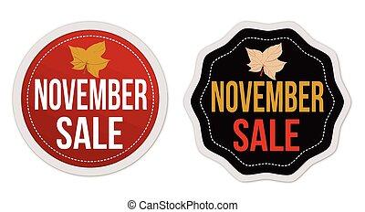 November sale stickers set