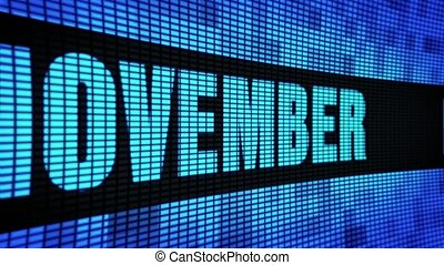 November Side Text Scrolling LED Wall Pannel Display Sign...