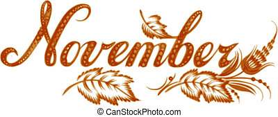 November the name of the month - November, name of the month...