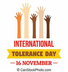 November tolerance day concept background. Flat illustration of november tolerance day concept background for web design