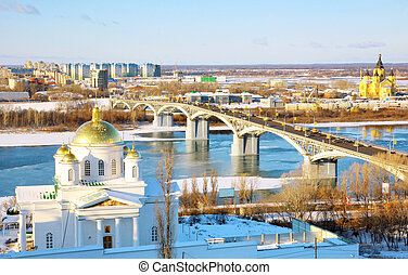 November view Annunciation Monastery and Nevsky Cathedral