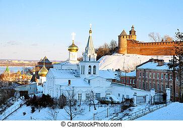 November view Church of Elijah the Prophet Nizhny Novgorod