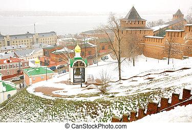 November view Kremlin Nizhny Novgorod Russia