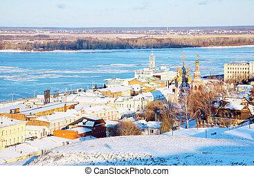 November view Nizhny Novgorod Russia from embankment