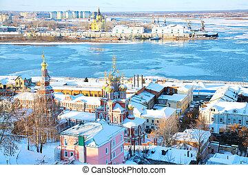 November view of Strelka Nizhny Novgorod Russia
