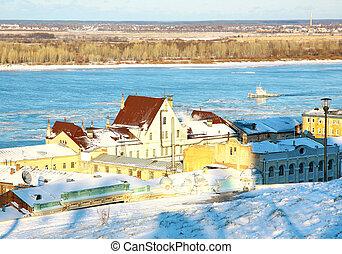 November view river Volga Nizhny Novgorod Russia