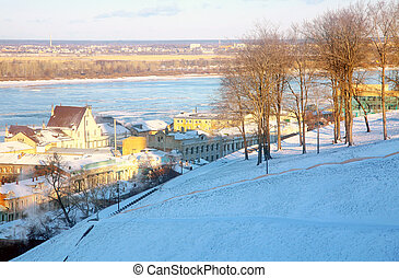 November view Rozhdestvenskaya street Nizhny Novgorod Russia