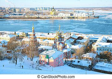 November view Strelka Nizhny Novgorod Russia