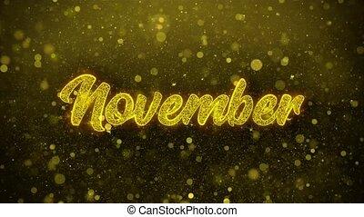 November Wishes Greetings card, Invitation, Celebration...