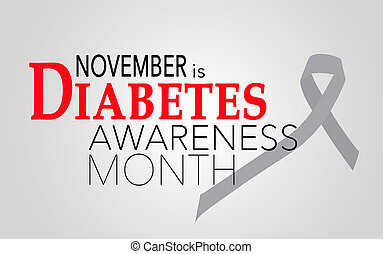 novembre, diabete, consapevolezza, mese
