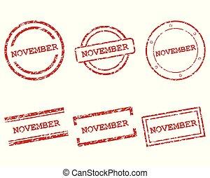 novembre, francobolli