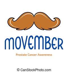 novembre, vecteur, moustache, carte