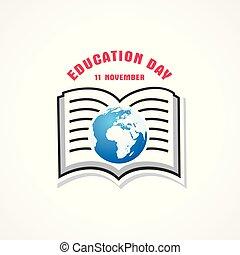 novembro, saudação, ilustração, educação, -, 11, dia