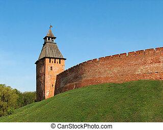 Novgorod citadel 3 - The walls and towers of the Novgorod...
