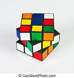 Rubik's Cube - NOVI SAD, SERBIA - NOVEMBER 17, 2014: Rubik's...