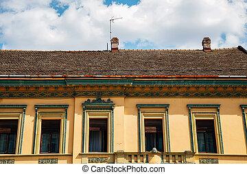 novi, slobode, 古い, セルビア, trg, 悲しい, 建築, 通り, 外面