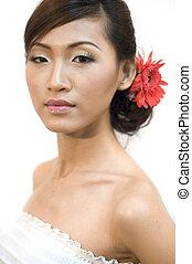 novia, asiático
