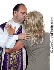 novia, católico, sacerdote, amor