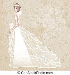 novia en vestido de novia