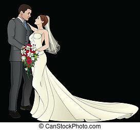 novia, novio