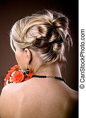 novia, peinado