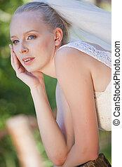 novia, retrato