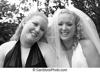 novia, y, hermana