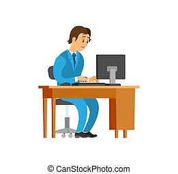 Novice Working at New Office Job, Man Workplace - Novice ...
