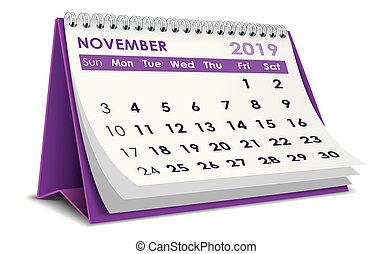 noviembre, 2019, calendario
