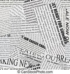 novinový papír, grafické pozadí