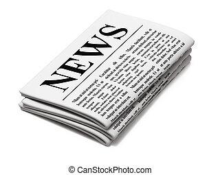 noviny, běloba grafické pozadí