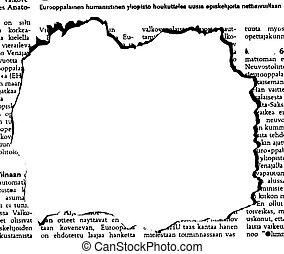 noviny, dírka, vektor