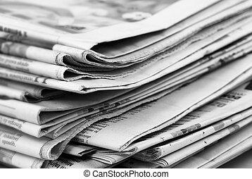 noviny, komín