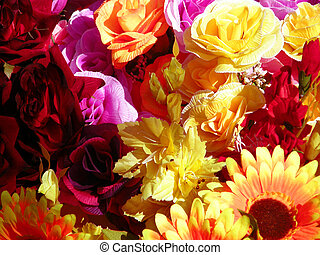 noviny, květiny