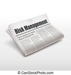noviny, management, nebezpečí, rozmluvy