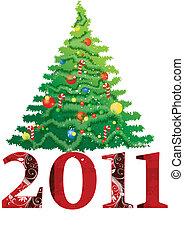 novo, 2011, árvore natal, ano
