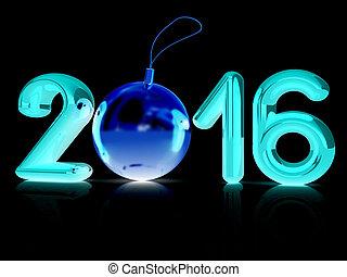 novo, 2016, feliz, ano