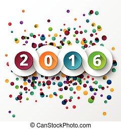 novo, 2016, feliz, celebration., ano