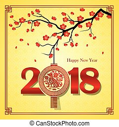 novo, 2018, chinês, ano