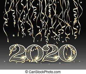 novo, 2020, cartão, ano