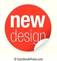 novo, adesivo, tag, desenho, etiqueta
