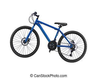 novo, bicicleta, isolado