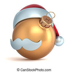 Novo, bola, Ornamento, Natal, ano
