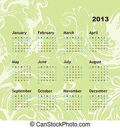 novo, calendário, 2013, ano